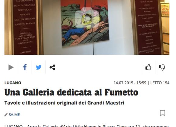 Ticinonline, Una Galleria dedicata al Fumetto – 14 Luglio 2015