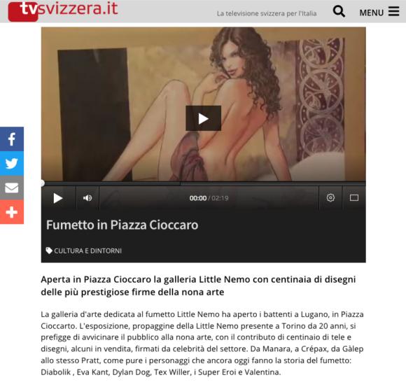 TVSvizzera, L'arte del Fumetto sbarca a Lugano – 21 Luglio 2015