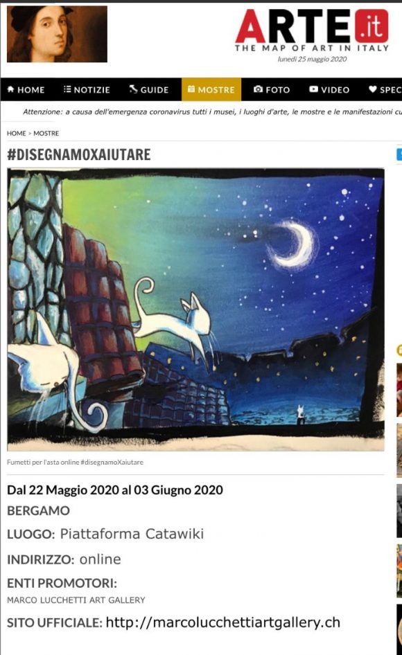 Arte.it – #DISEGNAMOXAIUTARE
