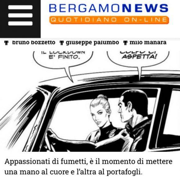Eco di Bergamo – Opere di Bozzetto, Manara, Palumbo all'asta per l'ospedale di Bergamo
