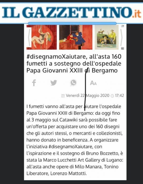 #disegnamoXaiutare, all'asta 160 fumetti a sostegno dell'ospedale Papa Giovanni XXIII di Bergamo