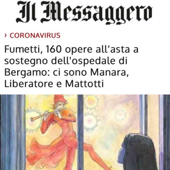 Il Messaggero Fumetti, 160 opere all'asta a sostegno dell'ospedale di Bergamo: ci sono Manara, Liberatore e Mattotti