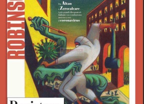 L'illustrazione di Lorenzo Mattotti per la copertina di Robinson va all'asta per aiutare la lotta al coronavirus L'iniziativa di beneficenza #disegnamoXaiutare sostiene l'ospedale Papa Giovanni XXIII di Bergamo. Oltre a quella di Mattotti, andranno all'asta le opere di molti artisti del fumetto, da Milo Manara a Tanino Liberatore